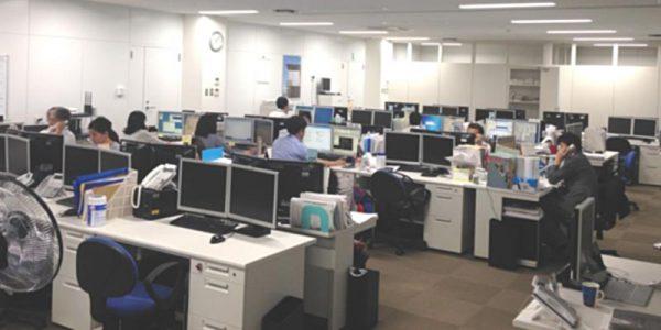 ミサワホーム(株)CADセンター沖縄事務所 社内風景